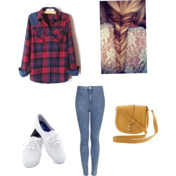 shirt fishbraid flannel shirt high waisted jeans vans jeans denim high waisted jeggings bag