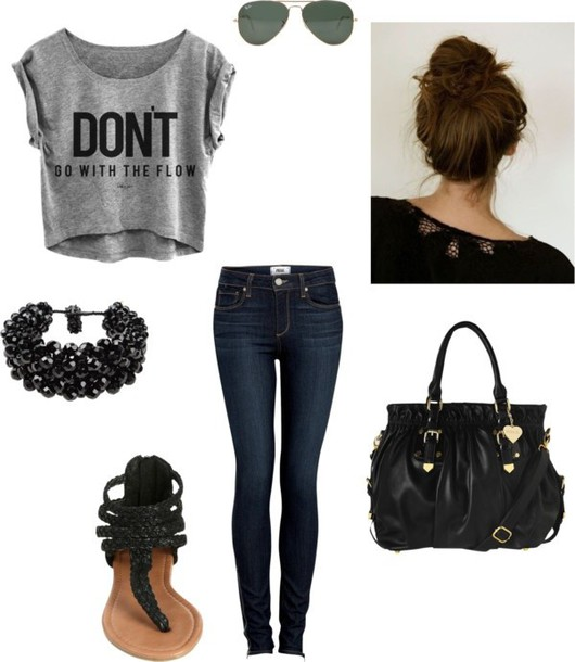 pants t-shirt shirt bag jeans shoes jewels blouse skirt rebel attitude skinny jeans pretty little liars top fashion don't go with the flow fall 2014 cool shirts purse black purse grey top cardigan the pretty reckless high heels tassel sexy shoes party shoes black heels fringe shoes zipped shirt black t-shirt jacket kids fashion hoodie