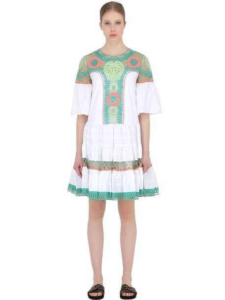Temperley London dress lace dress embroidered lace cotton