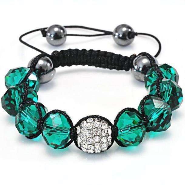 jewels fashion bracelets shamballa bracelets green