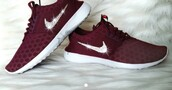 shoes,nike,nike shoes,burgundy,low top sneakers