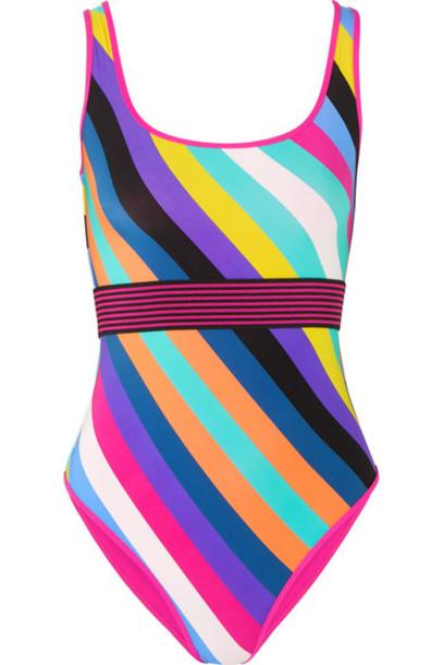Diane Von Furstenberg purple swimwear