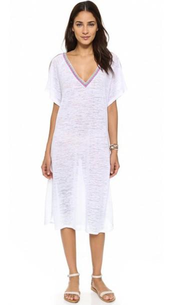 Pitusa V Back Dress - White