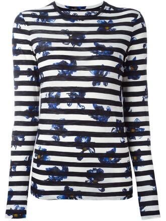 t-shirt shirt striped t-shirt print black top