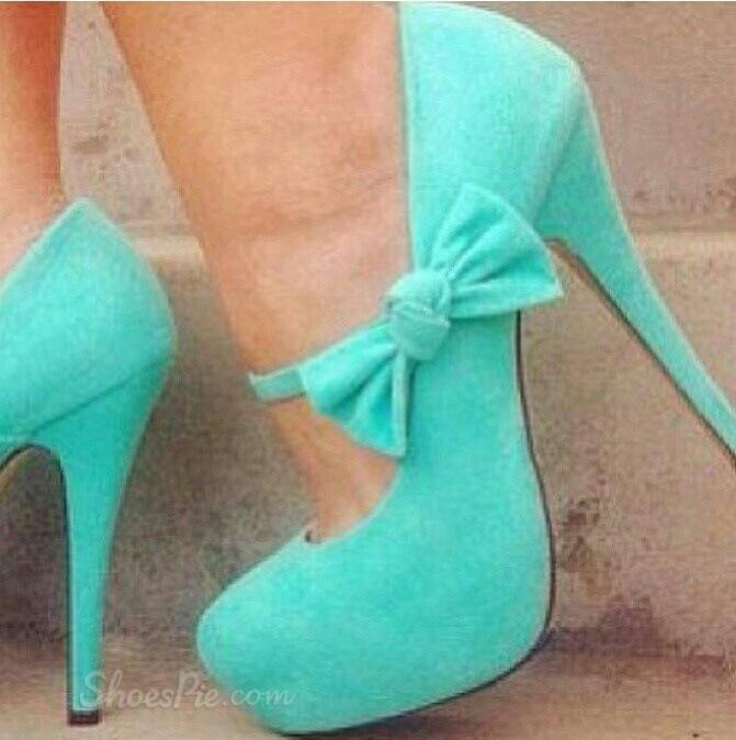 Fashionable Concise Platform Stiletto Heels with Bowtie & Ankle Straps