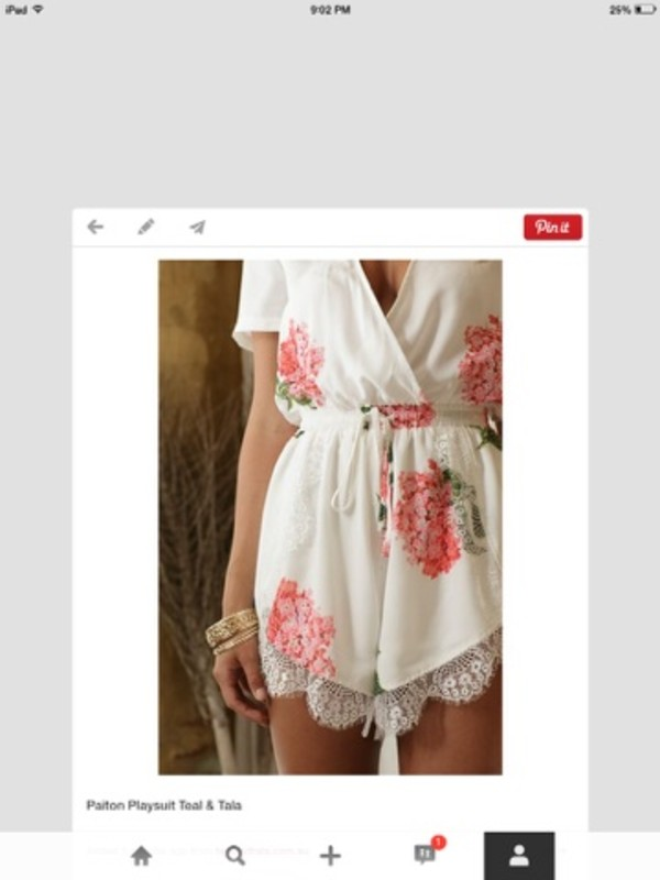 shorts romper floral