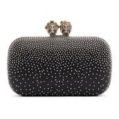 embellished,king,clutch,black,bag