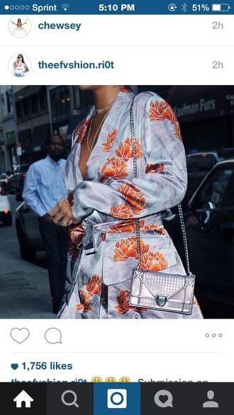 dress rihanna floral