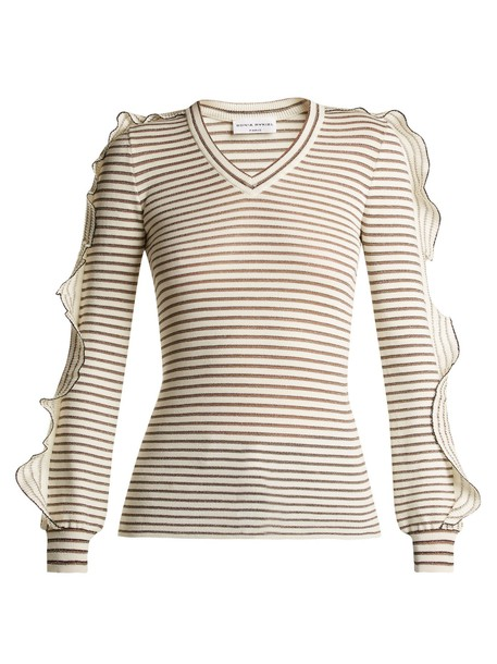 Sonia Rykiel sweater ruffle cotton white