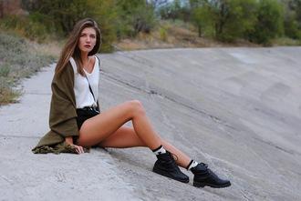 yuliasi blogger sweater shorts socks bag shoes