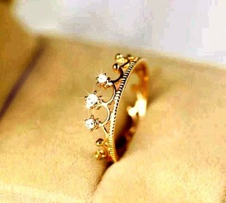jewels gold ring princess crown