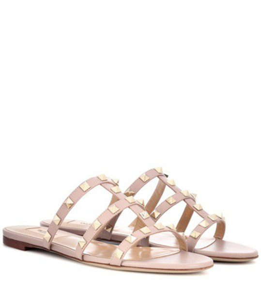 Valentino sandals leather sandals leather pink shoes