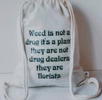 bag weed marihuana cute pretty black white