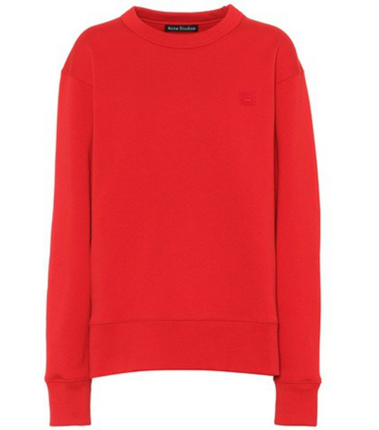 Acne Studios sweatshirt cotton red sweater