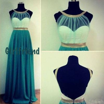 Girlfriend prom dress · attractive green chiffon straps floor length prom dress / evening dress · girls prom dresses on storenvy