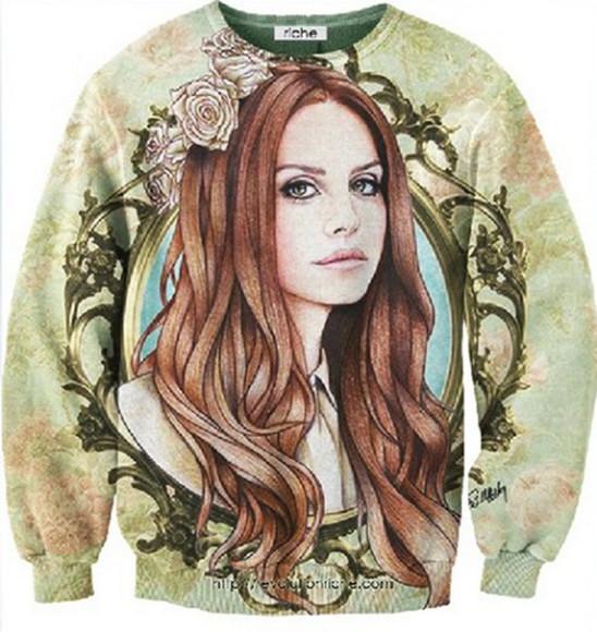 lana del rey sweater cozy floral cozy sweater floral