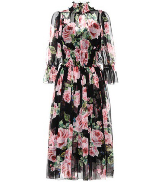 Dolce & Gabbana dress silk dress floral silk