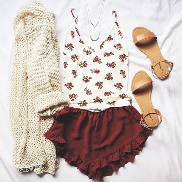 Shorts Red Pretty Cute Love Tumblr Outfit Tumblr Shorts Instagram Style Fashion Shoes