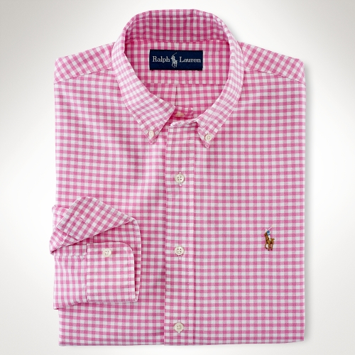 Custom-Fit Gingham Oxford