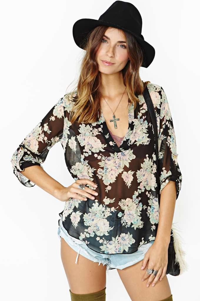 Dark Virtue Blouse  in  Clothes at Nasty Gal