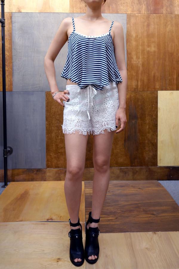 top cami top lace shorts shorts