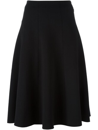 skirt knee length skirt pleated black
