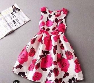 dress roses sweet girly girly dress