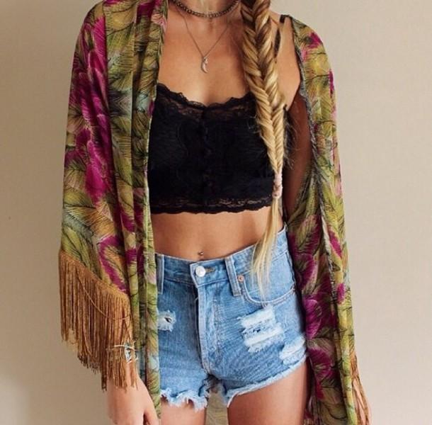 blouse shorts jacket top cardigan