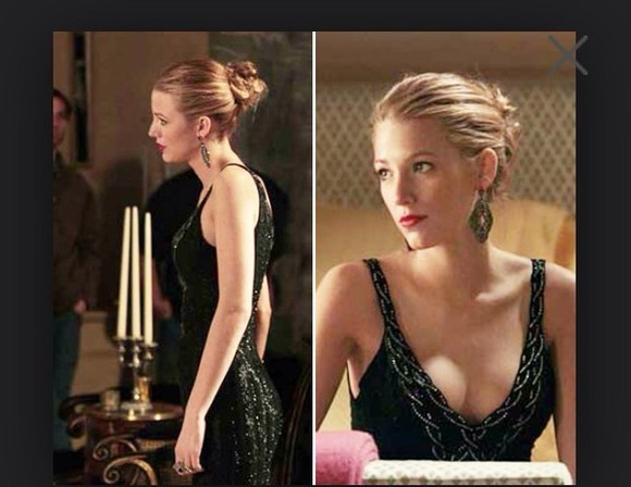 dress blake lively little black dress prom dress debs dress elegance