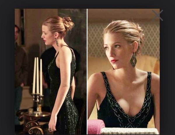 dress blake lively black dress prom dress debs dress elegance gossip girl formal black dress serena van der woodsen