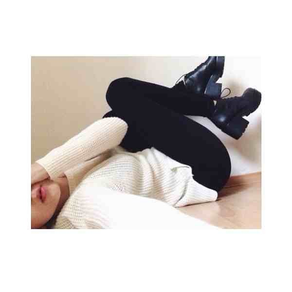 shoes black boots sweater