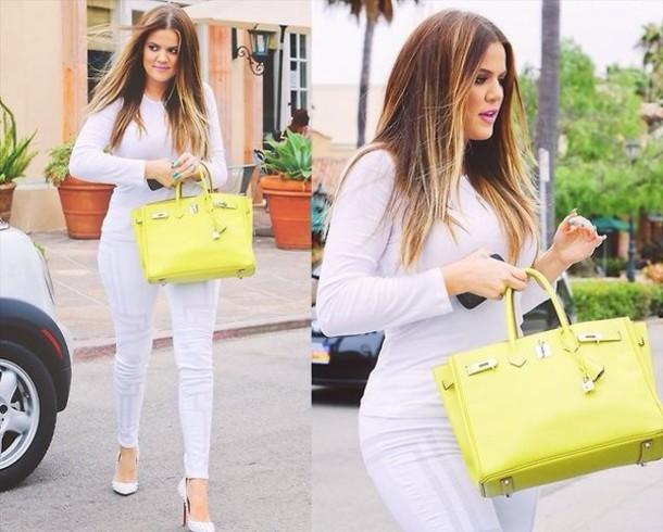 Khloe Kardashian Yellow Nails