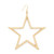 Kenneth Jay Lane Single Open Star Fishhook Earring - Gold