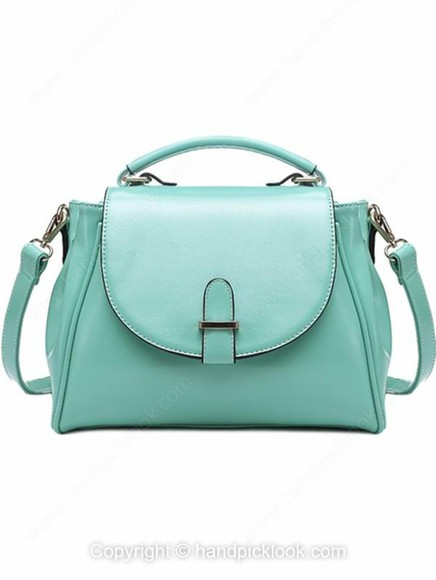mint bag green bag pu leather bag shoulder bag\