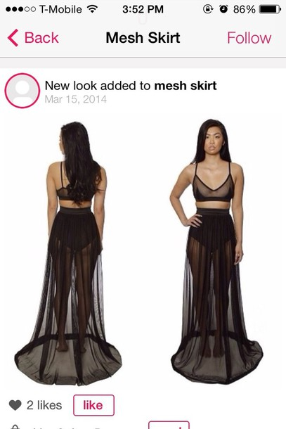 dress black skirt mesh long long skirt maxi dress maxi skirt see see through