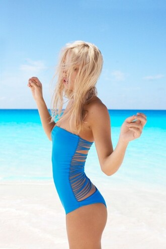 swimwear blue swimwear one piece