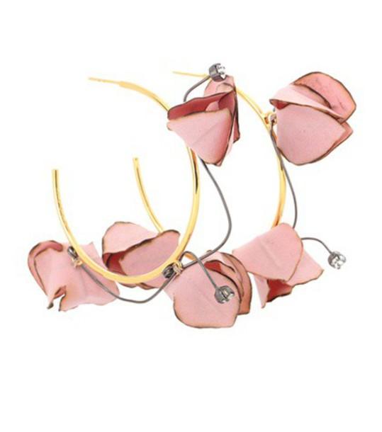 MARNI rose earrings hoop earrings pink jewels