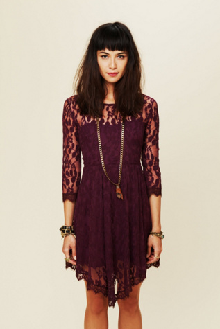 free people womens floral mesh lace dress