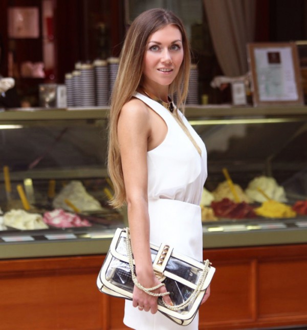 bag See through bag streetstyle stylemoi white dress elegant bag summer outfits elegant outfit