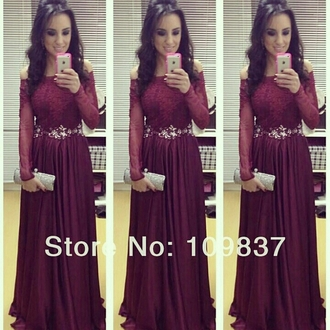 dress maroon/burgundy prom dress evening gown lace dress off the shoulder dress