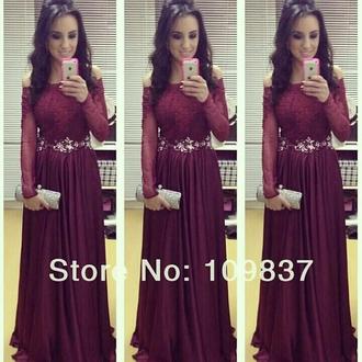 dress maroon/burgundy prom dress evening dress lace dress off the shoulder dress
