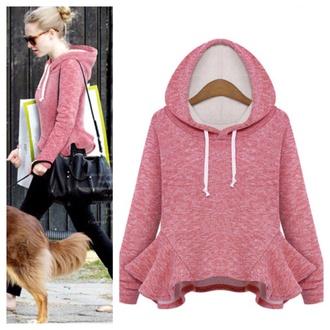 sweater clothes fashion cute hoodie top kawaii fall outfits girly peplum peplum hoodie