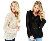 sweater,crochet,loose knit sweater,hoodie,fall sweater,trendy,beachwear,beach vibe,boho,bohemian,lovestitch