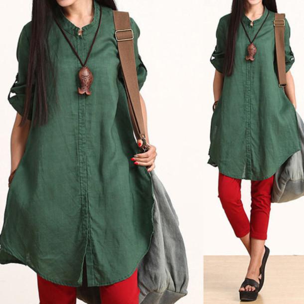 shirt t-shirt green
