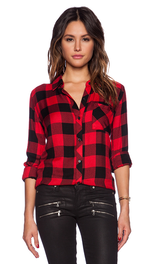 Rails hunter button down in black & red check from revolveclothing.com