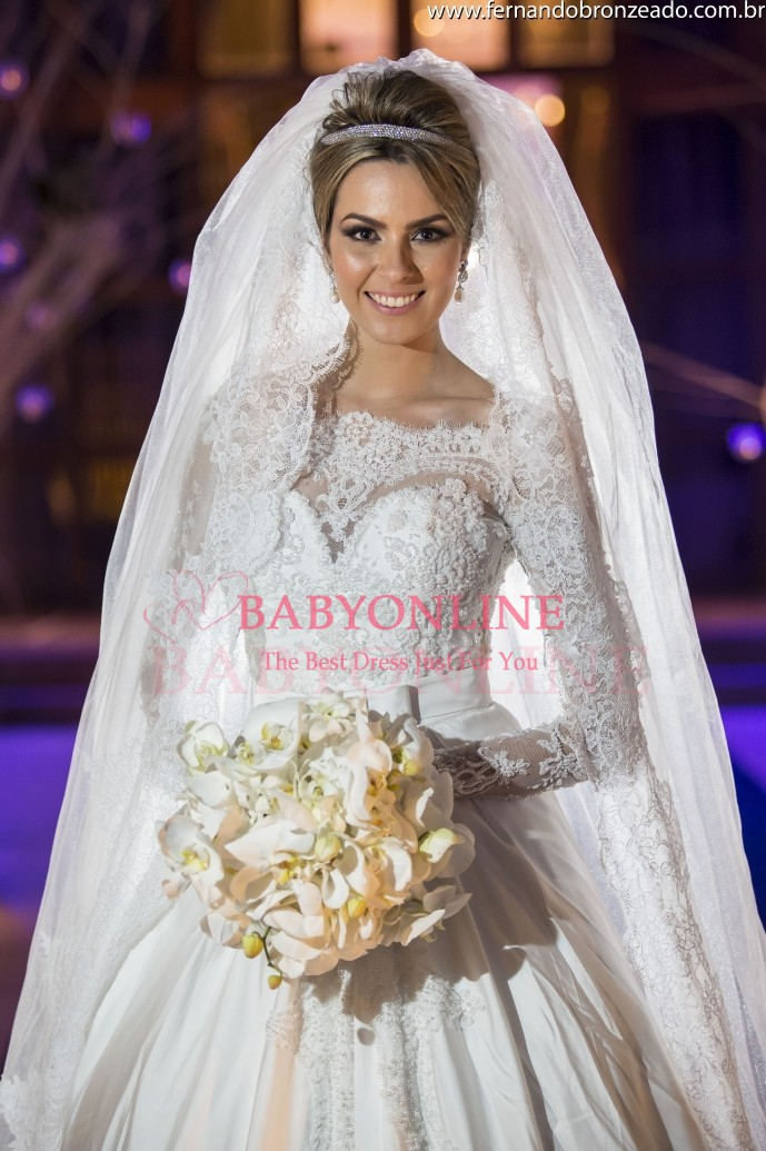 Aliexpress.com : buy vestido de noiva 2015 new romantic scoop a line long sleeve beaded lace wedding dresses zipper back bride gown casamento from reliable dress for less prom dresses suppliers on suzhou babyonline dress store
