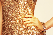 gold sequins,sequins,sequin dress,dress,jewels