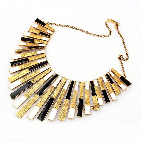 New design europen and american exaggerated retro fashion metal tassels personality short necklaces