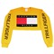 Soto militia — fashion killa x trillfiger crop sweater (yellow)