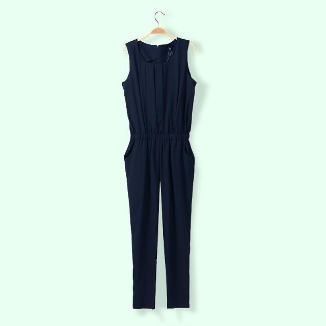 Free shipping 2014 european style hot fashion womens cute jumpsuit ruche with pockets pink black green wholesale-in Jumpsuits & Rompers from Apparel & Accessories on Aliexpress.com